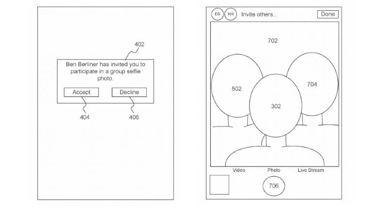 Apple brevet selfie égoportrait groupe