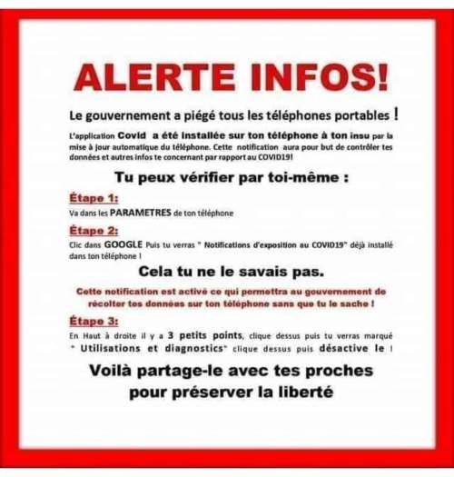 Publication Facebook Gouvernement Covid19