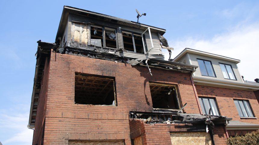 Incendie dans le quartier Bois-Franc à Saint-Laurent