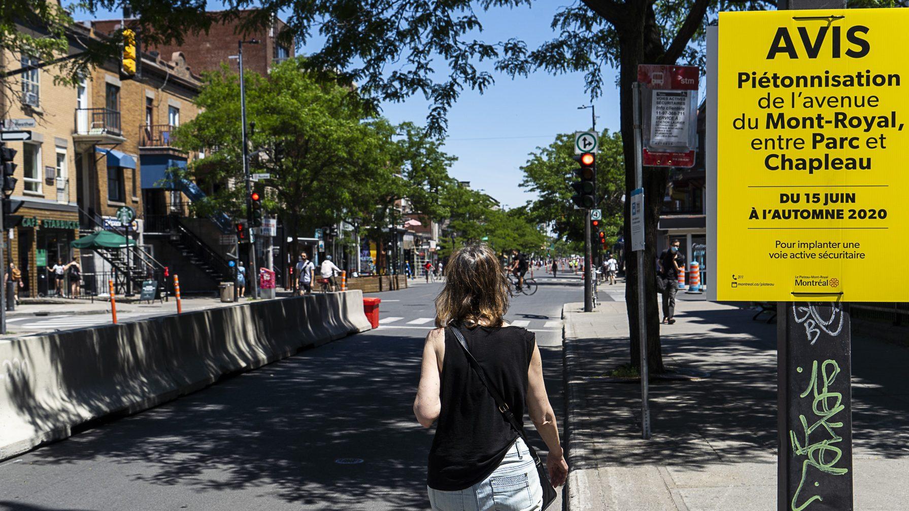 Piétonnisation de l'avenue du Mont-Royal