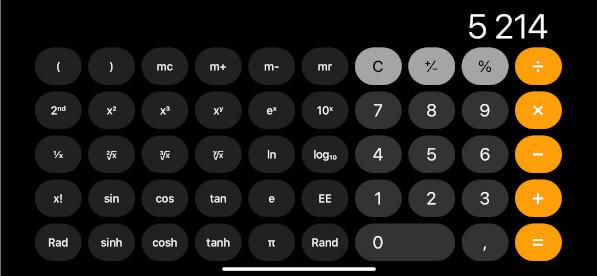 iPhone calculatrice intelligente