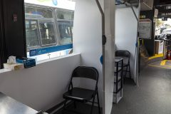 Troisième arrêt de l'unité mobile de dépistage à Saint-Laurent