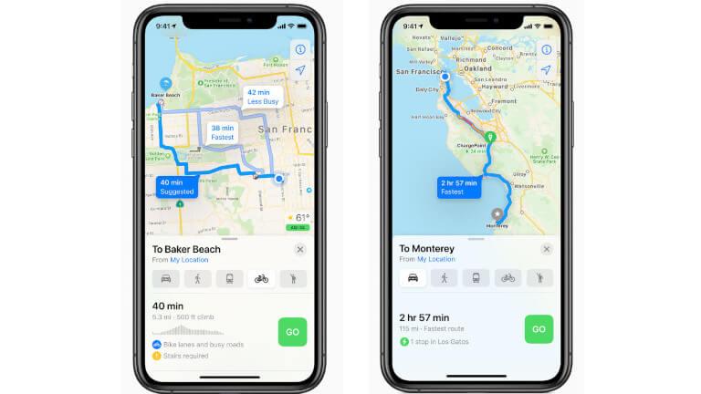 iOS 14 iPhone Maps