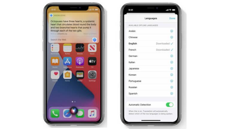 iOS 14 Siri Traduction