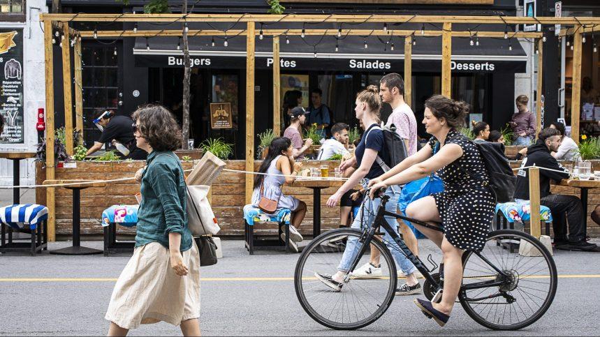 Plateau-Mont-Royal: les commerçants du Mile End réclament une rue partagée