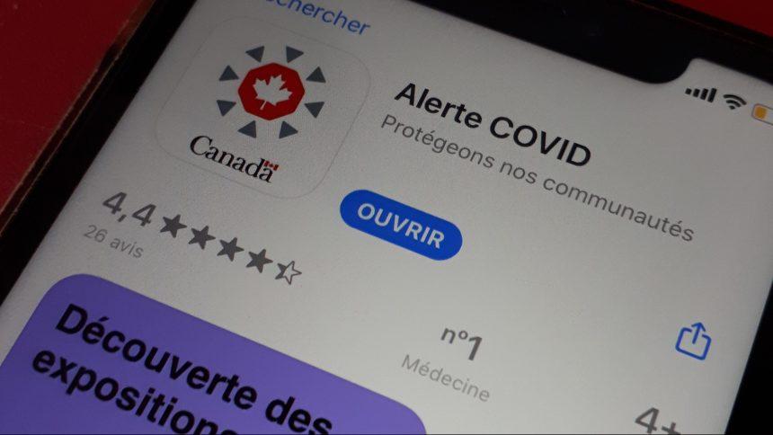 Ottawa lance son application Alerte COVID, à utilité réduite au Québec
