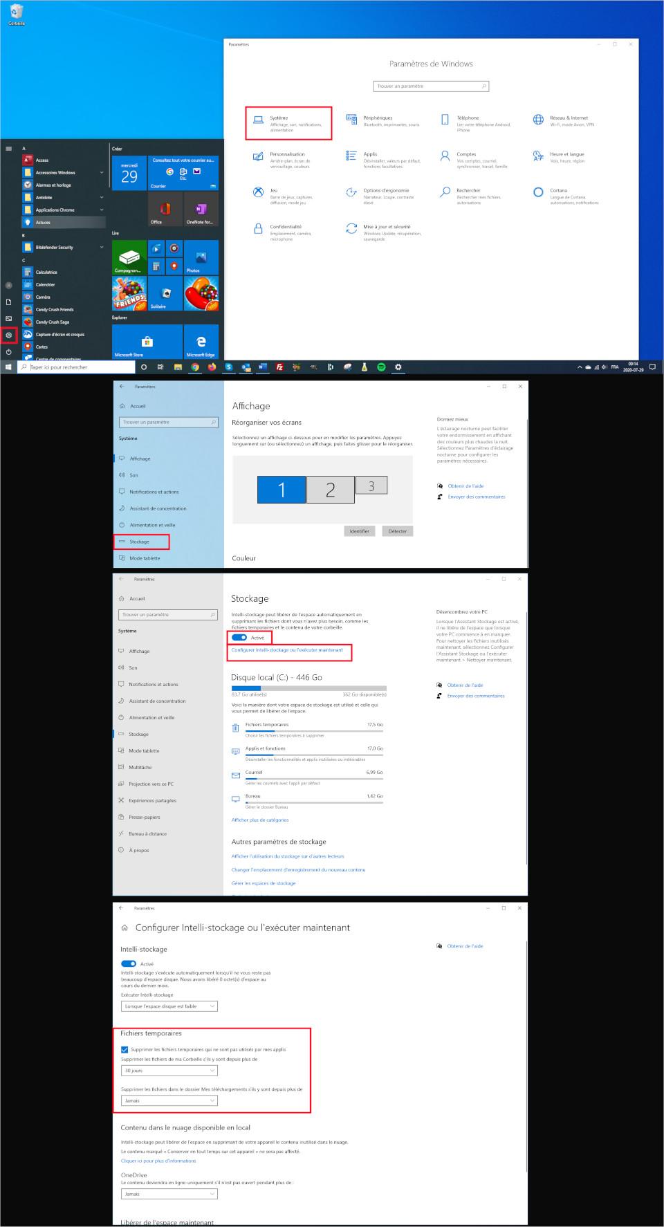Comment vider automatiquement sa corbeille ordinateur Windows 10