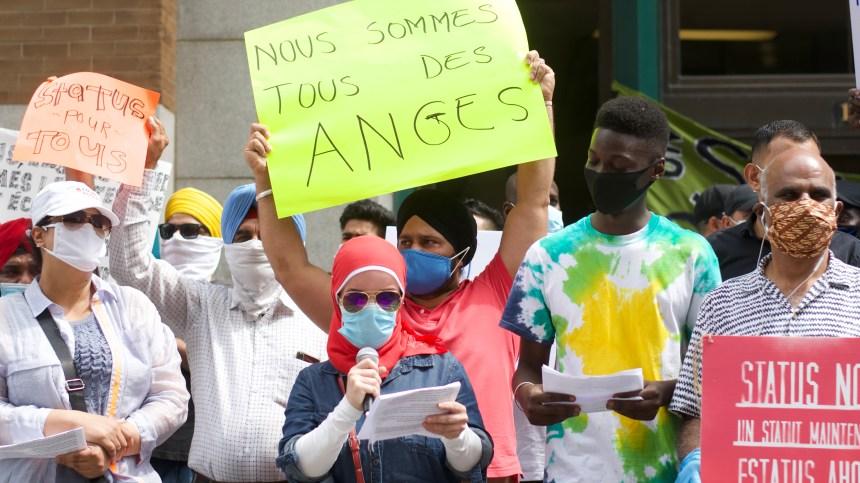 Rassemblement à Montréal pour réclamer la régularisation des migrants