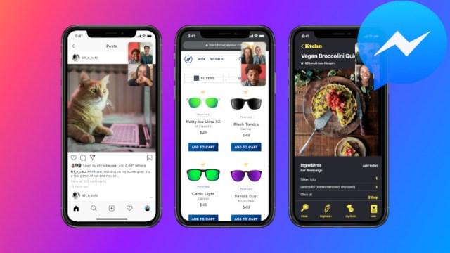 Facebook Messenger partage écran téléphone intelligent appel vidéo