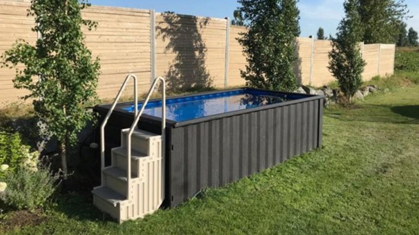 Des piscines faites à partir de vieux conteneurs
