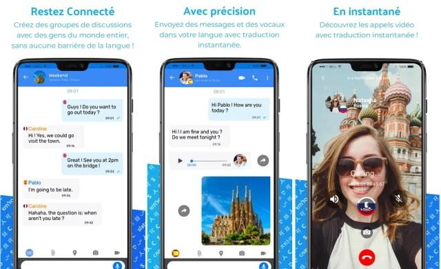 Slatch application traduction téléphone intelligent iOS Android