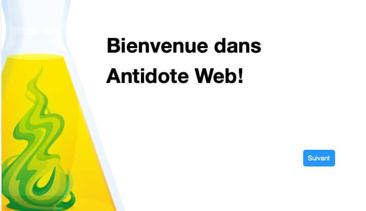 antidote web bienvenue