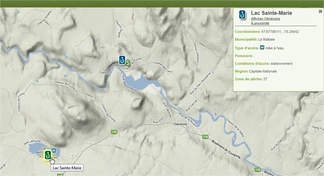 Carte interactive point d'accès