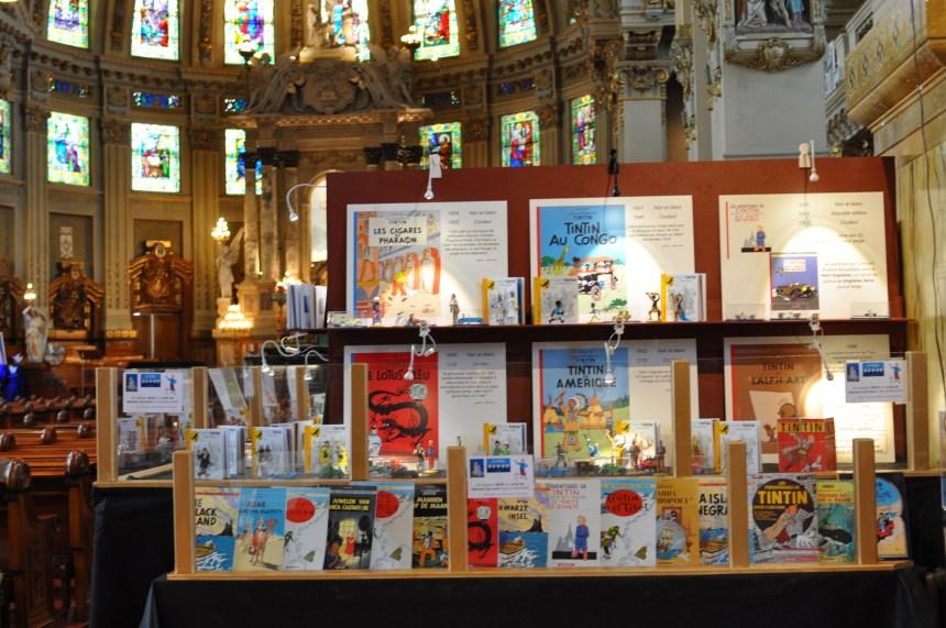 Tintin s'invite à l'église Notre-Dame-des-Sept-Douleurs