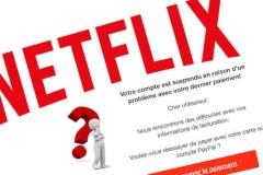 Ce courriel de Netflix mentionne que votre dernier paiement n'a pas passé