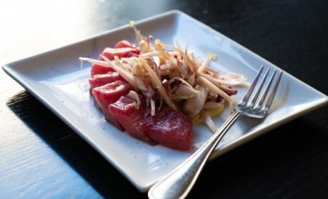 Assiette de gravlax de saumon