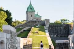 Un parc caché sur les fortifications à Québec