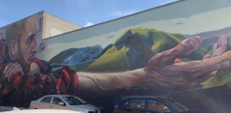 Murale près de la rue Notre-Dame-Ouest