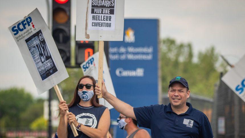 Une menace de grève plane sur le port de Montréal