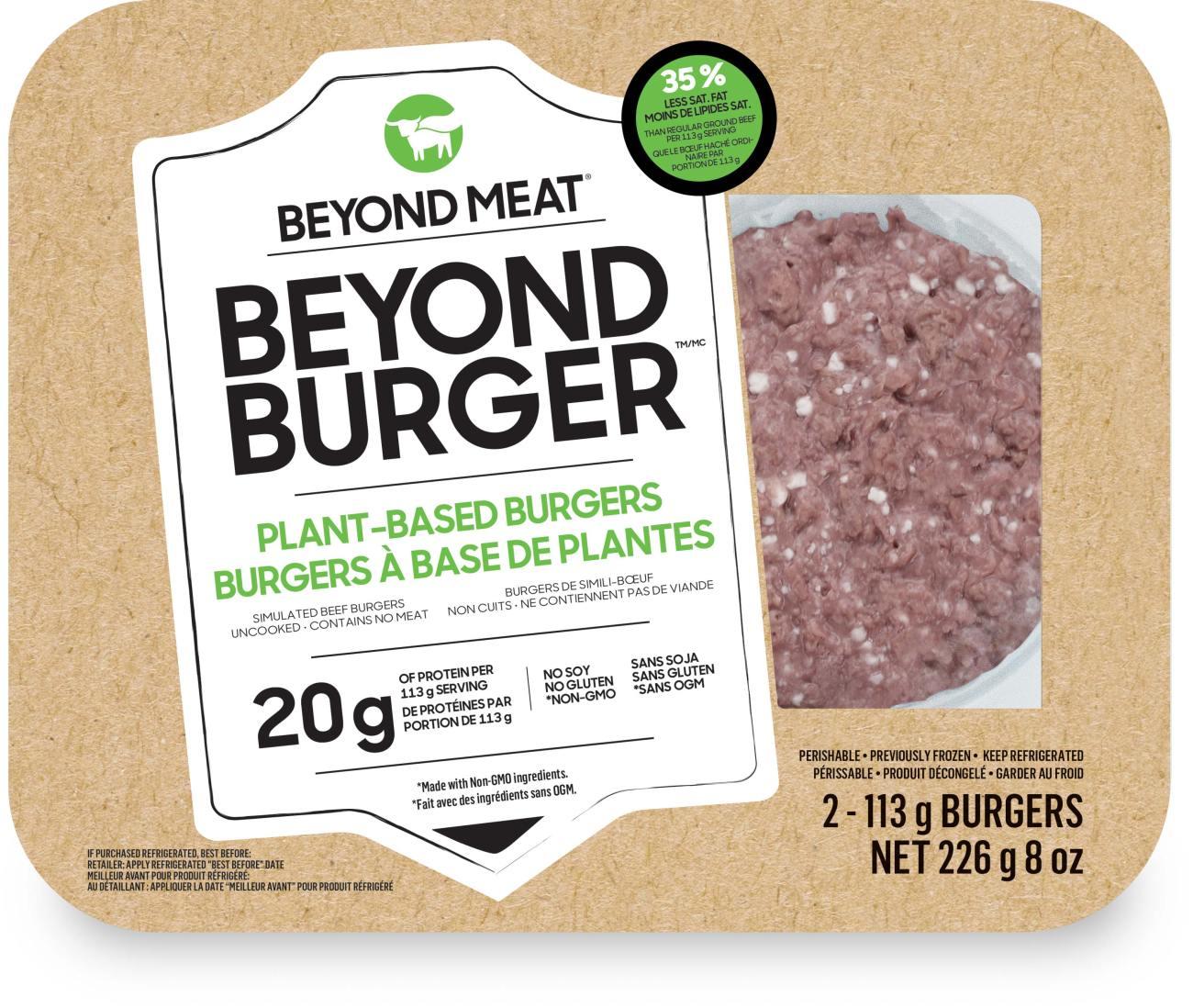 Emballage de Beyond burger