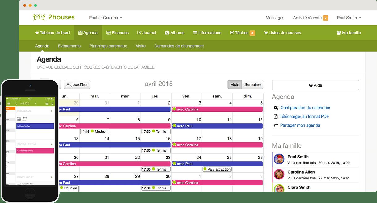 Capture d'écran de l'application mobile 2houses
