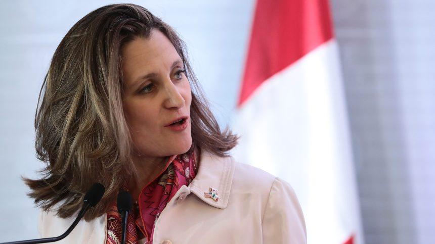 Chrystia Freeland est assermentée à titre de ministre des Finances