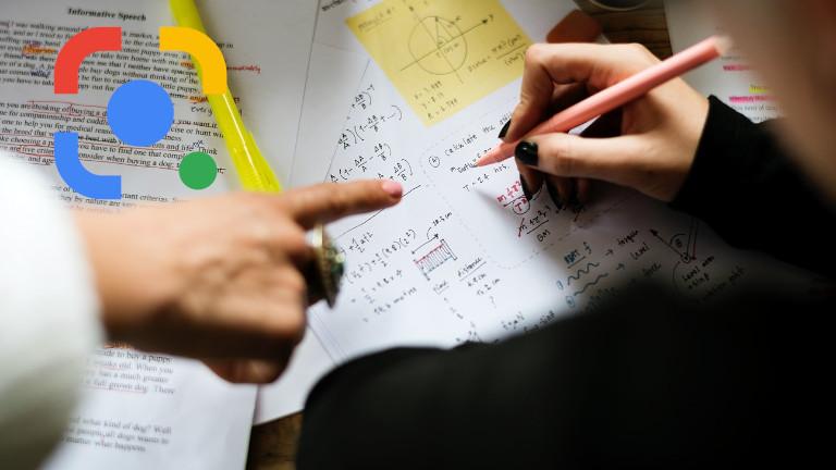 Google Lens problème mathématique devoir école