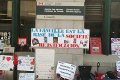 Des manifestations pour demander la réunification familiale dans tout le Canada