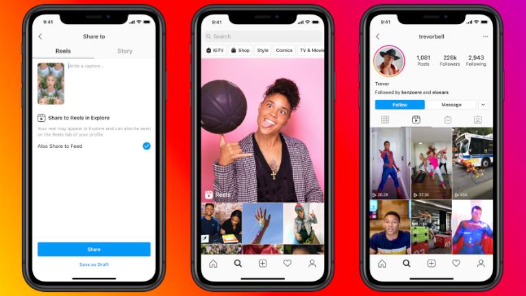 Instagram Reels clips vidéos Tik Tok