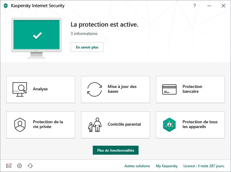 Kaspersky antivirus internet securité