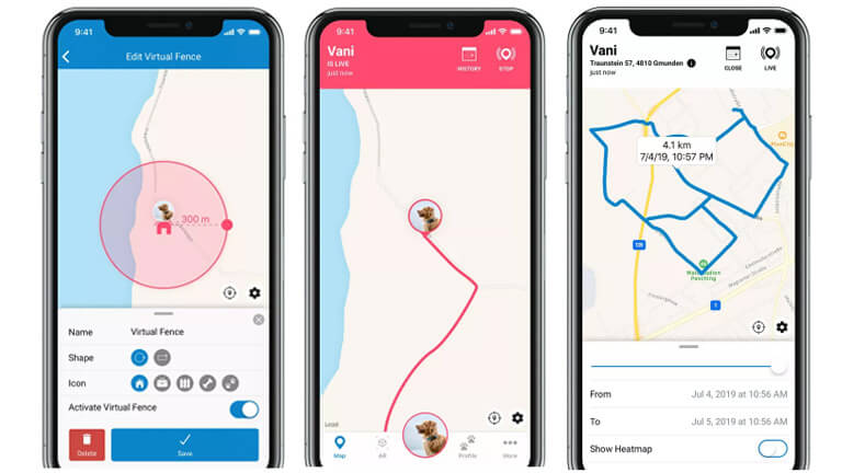 application mobile gps tractive