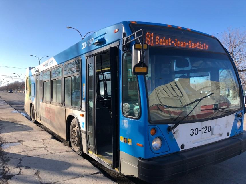 Le transport collectif perd du terrain dans certains secteurs de l'Est de Montréal