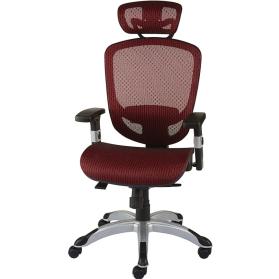 Chaise de travail de couleur rouge