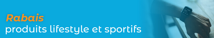 Rabais produits lifestyle et sportifs