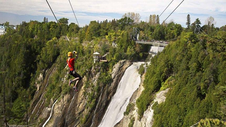 2 activités pour amateurs de sensation fortes à la chute Montmorency