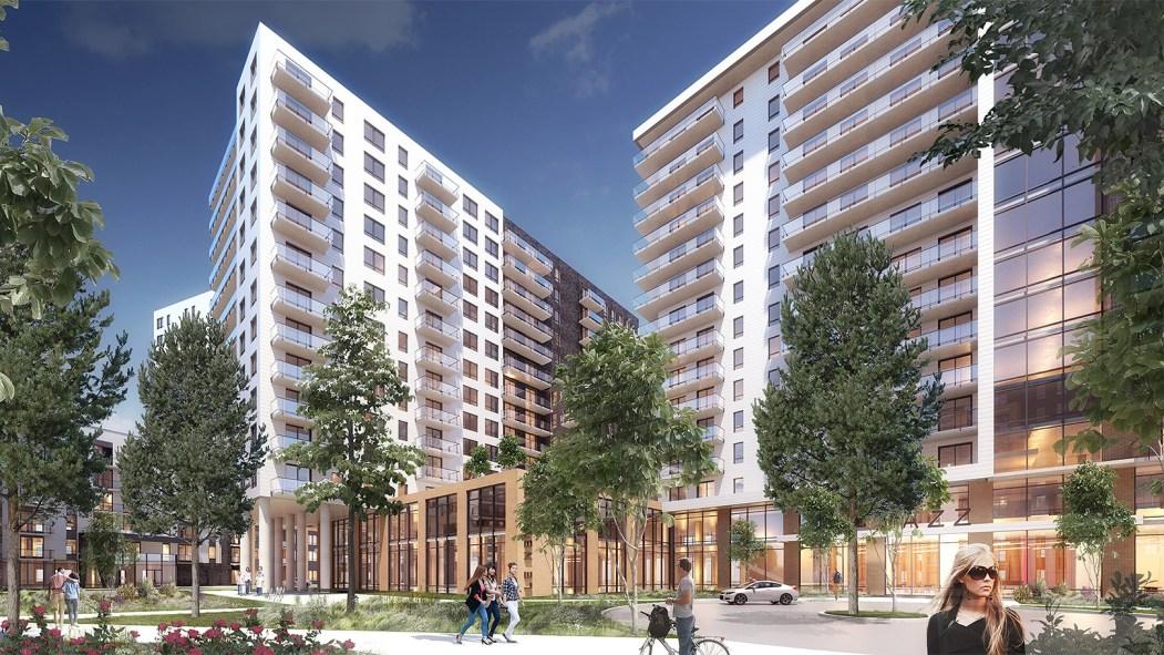 L'imposant ensemble résidentiel de près de 1000 unités en construction à l'angle du boulevard Newman et de la rue Léger a désormais un nom et un site web.