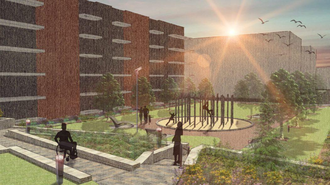 Maquette du nouveau parc Philippe-Lalonde
