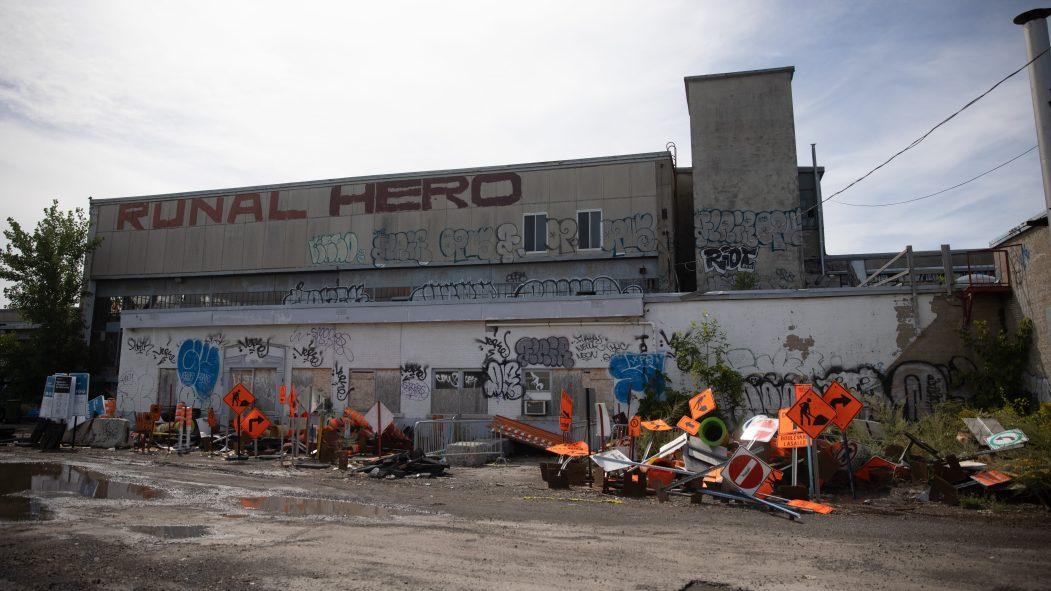 Site du 4000 rue Saint-Patrick à Montréal.