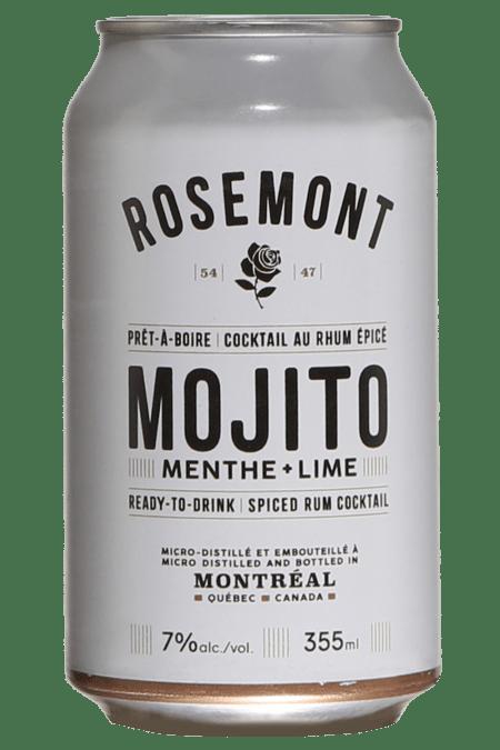 Une cannette du prêt-à-boire Rosemont Mojito