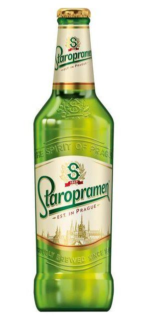 Bouteille de bière tchèque Staropramen