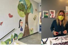 L'artiste mosaïste Laurence Petit veut créer près de chez elle
