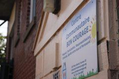 Départ au Centre communautaire Bon courage