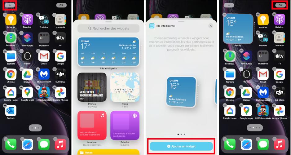 Comment ajouter un widget sur iPhone avec iOS 14