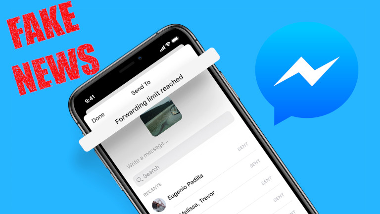 Facebook Messenger limite partage messages fakes news 5 contacts