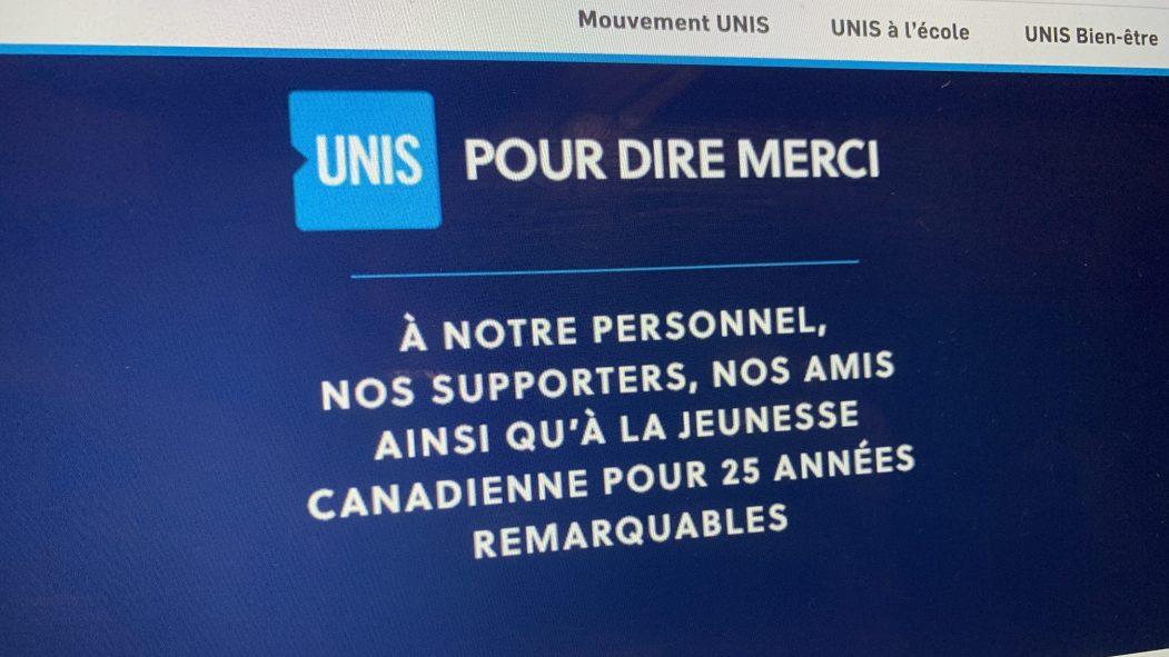 UNIS a publié une lettre ouverte pour annoncer son départ du Canada.