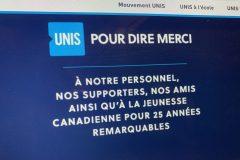 Dans la tourmente, UNIS cesse ses activités au Canada
