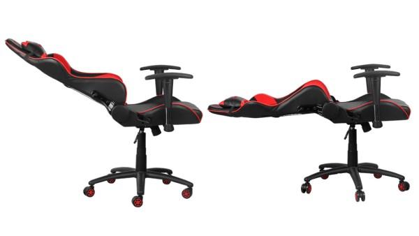 Les chaises de gaming Marvo permettent de se coucher complètement pour prendre une pause