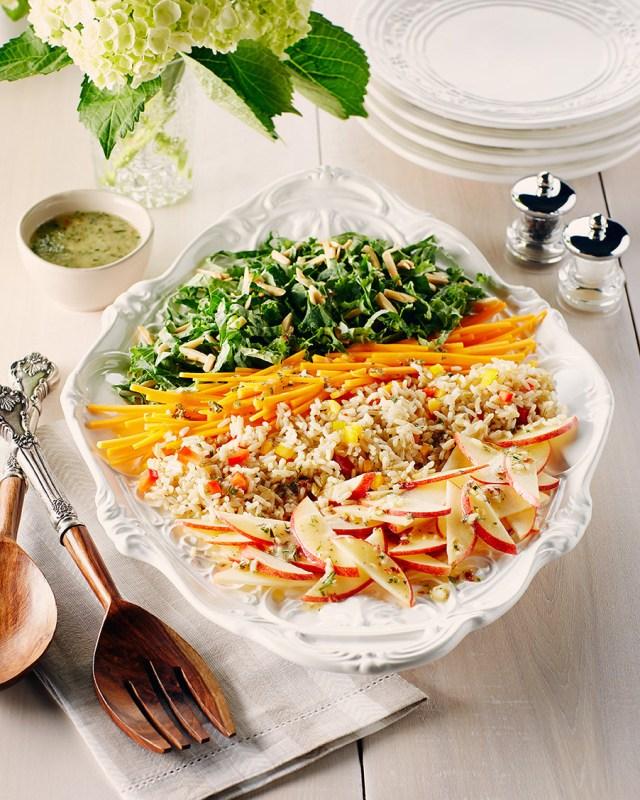 Salade de légumes et de riz