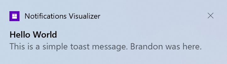Notifications Windows 10