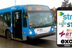 Achetez un billet d'autobus de la STM, STL, RTL et Exo via votre téléphone